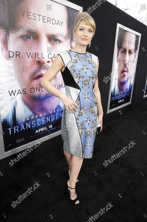 Producer Annie Marter seen at the Los Angeles Premiere of Alcon Entertainment's 'Transcendence', on in Westwood, Calif