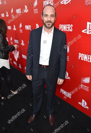 """Phillip DeVona attends the Los Angeles premiere of PlayStation's original series """"Powers"""" at Sony Pictures Studios on . """"Powers"""" premieres March 10 on PlayStation Network"""