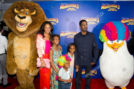 """Chris Rock and Malaak Compton-Rock attend the premiere of """"Madagascar 3: Europe's Most Wanted"""" on in New York"""
