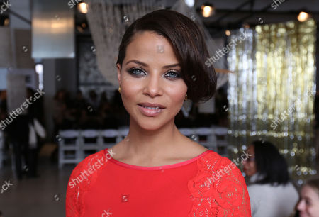 Model and actress Denise Vasi attends the Tracy Reese 2014 Fall/Winter Collection during Mercedes Benz Fashion Week, in New York