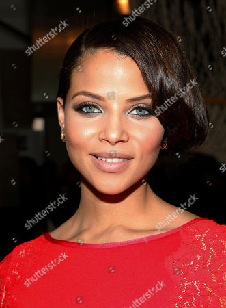 Denise Vasi attends Tracy Reese 2014 Fall/Winter Collection during Mercedes Benz Fashion Week on in New York