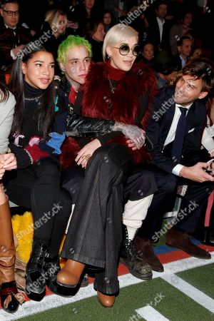 Richard Hilfiger, left, and Rita Ora, right, attend the Tommy Hilfiger Fall 2015 show during Mercedes-Benz Fashion Week Fall 2015 at The Park Avenue Armory, in New York