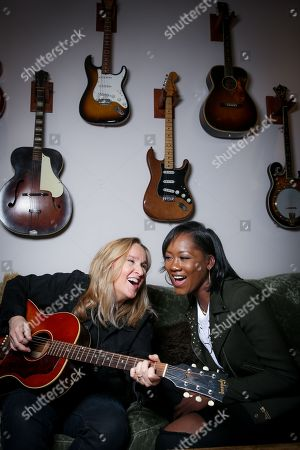 "Singers Melissa Etheridge, left, and Priscilla Renea sing during a portrait session in Hidden Hills, Calif. The pair are set to perform and share stories about their experiences in the music industry at the ASCAP ""I Create Music"" songwriting expo in Los Angeles on April 28. The three-day conference also promises appearances by Timbaland, Pat Benetar, singer Andra Day and Matchbox Twenty front man Rob Thomas"