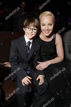 John Paul Ruttan and Abbie Cornish seen at Metro-Goldwyn-Mayer and Columbia Pictures Los Angeles premiere of 'Robocop', on Monday, Feb, 10, 2014 in Los Angeles