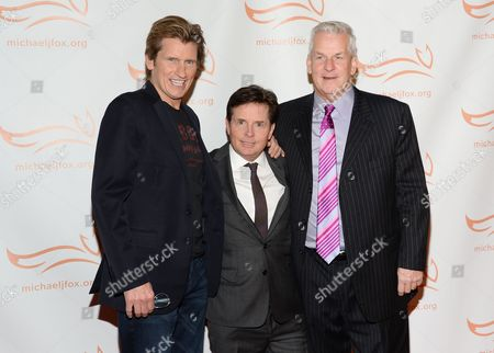 "Denis Leary, left, Michael J. Fox and Lenny Clarke attend ""A Funny Thing Happened on the Way to Cure Parkinson's"", to benefit The Michael J. Fox Foundation for Parkinson's Research, at the Waldorf Astoria, in New York"