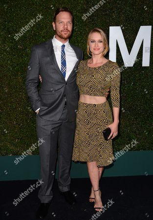 "From left, Jim Parrack and Leven Rambin arrive at the Michael Kors launch of Claiborne Swanson Frank's ""Young Hollywood"" on in Beverly Hills"