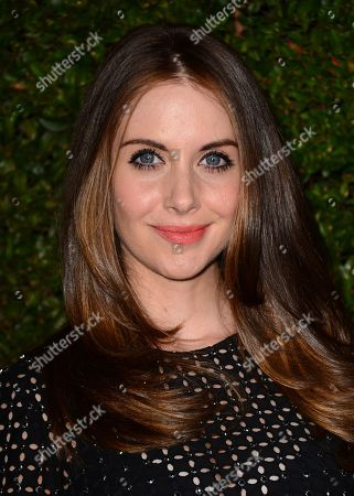 "Alison Brie arrives at the Michael Kors launch of Claiborne Swanson Frank's ""Young Hollywood"" on in Beverly Hills"