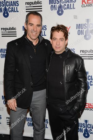 Republic Records Chairman and CEO Monte Lipman, left, and Republic Records Executive VP Charlie Walk attend Musicians On Call 15th Anniversary at Espace, in New York