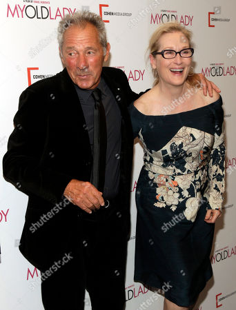 """Israel Horovitz, left, and Meryl Streep, attend the New York premiere of """"My Old Lady"""" on in New York"""