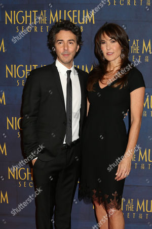 """Director Shawn Levy, left, and Susan Schneider attend the premiere of """"Night at the Museum: Secret of the Tomb"""" at the Ziegfeld Theatre on in New York"""