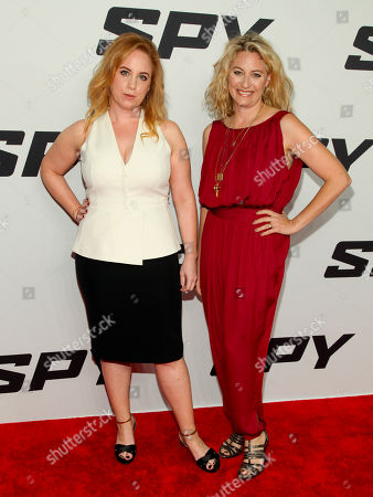 "Jessica Chaffin, left, and Jamie Denbo, right, attend the premiere of ""Spy"" at AMC Loews Lincoln Square, in New York"