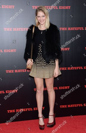 """Heidi Mount attends the premiere of """"The Hateful Eight"""" at the Ziegfeld Theatre, in New York"""
