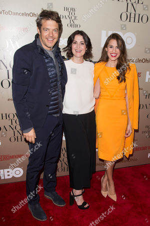 """Executive Producer Jason Blum, Alexandra Shiva and Allison Williams attends the premiere of HBO's """"How To Dance In Ohio"""" at the Time Warner Center, in New York"""