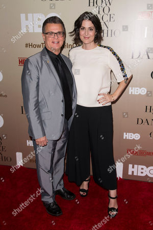"""Dr. Emilio Amigo and Filmmaker Alexandra Shiva attend the premiere of HBO's """"How To Dance In Ohio"""" at the Time Warner Center, in New York"""