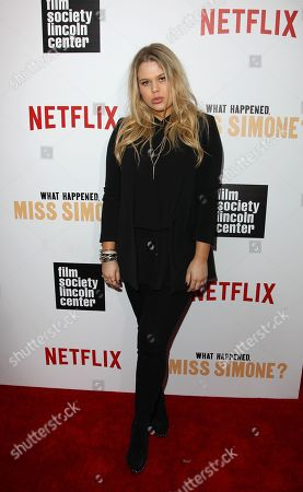 "Singer Grace Sewell attends the premiere screening of Netflix's ""What Happened, Miss Simone?"" at the Apollo Theater, in New York"