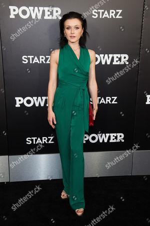"Irina Dvorovenko attends the season three premiere of the STARZ drama ""Power"" at the SVA Theatre, in New York"