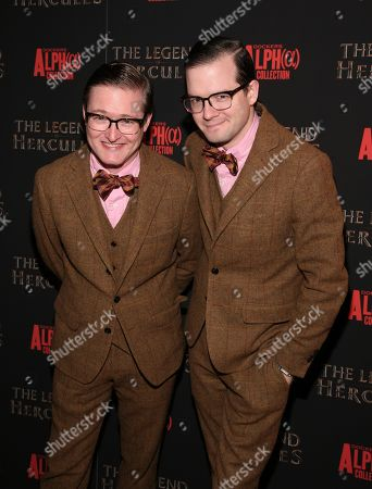 "DJs Andrew Andrew attends a screening of ""The Legend of Hercules"", in New York"