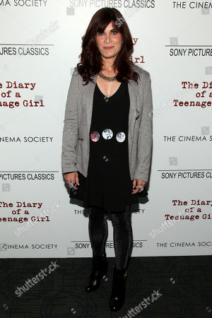"Phoebe Gloeckner attends a special screening of ""The Diary of a Teenage Girl"", hosted by The Cinema Society and Sony Pictures Classics, at the Landmark Sunshine Cinema, in New York"