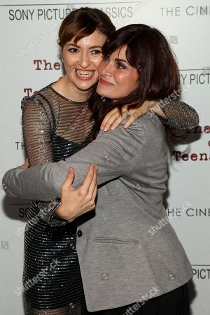 "Marielle Heller, left, and Phoebe Gloeckner, right, attend a special screening of ""The Diary of a Teenage Girl"", hosted by The Cinema Society and Sony Pictures Classics, at the Landmark Sunshine Cinema, in New York"