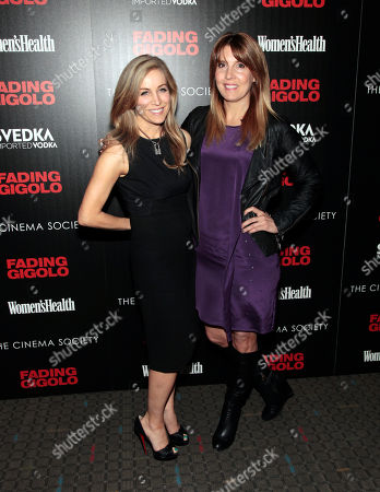 "Publisher of Women's Health magazine Laura Frerer-Schmidt, left, and Editor-in-Chief of Women's Health magazine Michele Promaulayko, right, attend a screening of ""Fading Gigolo"" sponsored by the Cinema Society and Women's Health magazine, in New York"