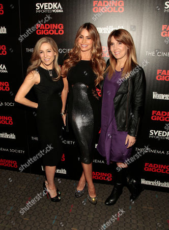 "From left, publisher of Women's Health magazine Laura Frerer-Schmidt, actress Sofia Vergara and Editor-in-Chief of Women's Health magazine Michele Promaulayko attend a screening of ""Fading Gigolo"" sponsored by the Cinema Society and Women's Health magazine, in New York"