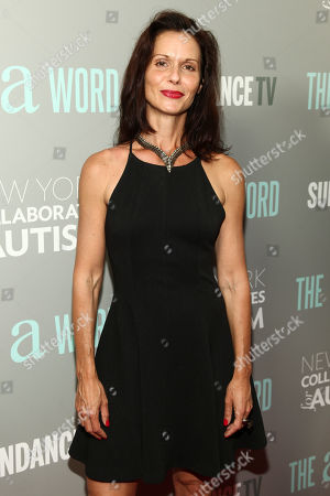 """Stock Photo of Florencia Lozano attends a special screening of SundanceTV's """"The A Word"""" at the Museum of Arts and Design, in New York"""