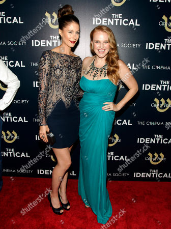 "Actresses Amanda Crew, left, and Erin Cottrell, right, attend the premiere of ""The Identical"" on in New York"