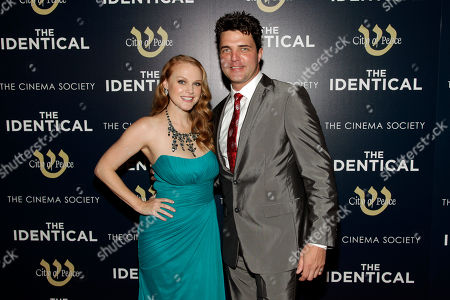 "Stock Picture of Actress Erin Cottrell, left, and actor Blake Rayne, attend the premiere of ""The Identical"" on in New York"