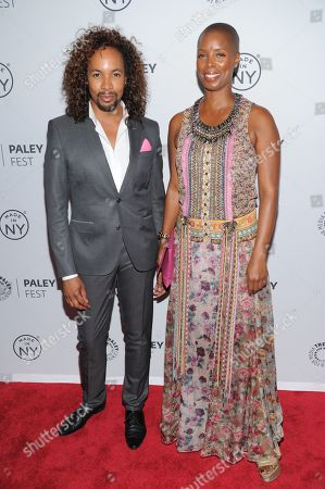 "Paul Wharton, left, and Sidra Smith attend PaleyFest: Made In NY - ""Orange Is The New Black"" panel discussion at The Paley Center for Media on in New York"