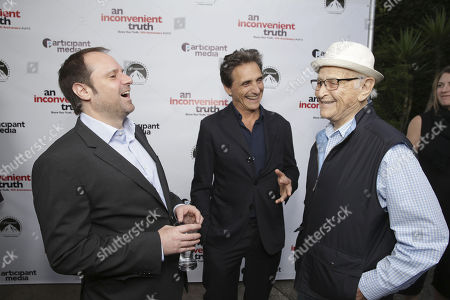 "Founder & Chairman - Participant Media and Exec. Producer Jeff Skoll, Producer Lawrence Bender and Norman Lear seen at Participant Media 10 Year Anniversary Celebration of ""An Inconvenient Truth"", in Los Angeles, CA"