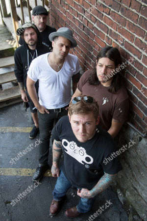 Brian Fallon Benny Horowitz Alex Levine Alex Rosamilia Ian Perkins, of musical group The Gaslight Anthem, pose for a portrait at the Cannery Ballroom on in Nashville, Tenn