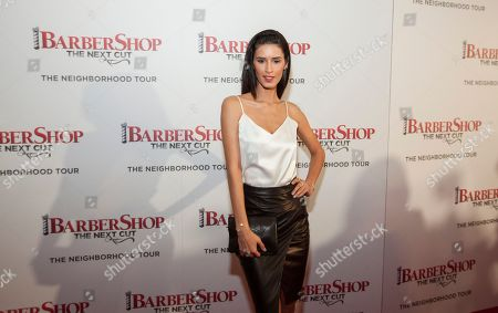 Model Jaslene Gonzalez at the Chicago premiere of Barbershop: The Next Cut, at the Kerasotes Showplace Icon Theatre on in Chicago