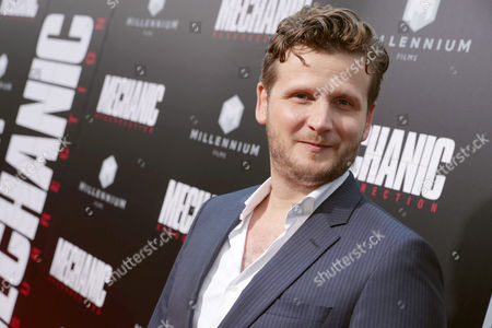"""Director Dennis Gansel seen at Los Angeles Premiere of """"Mechanic: Resurrection"""" from Lionsgate's Summit Premiere Label at ArcLight Hollywood, in Los Angeles"""