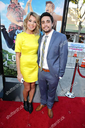 """Grace Helbig and Chester See seen at the Los Angeles Premiere of AwesomenessTV and Defy Media's """"SMOSH: THE MOVIE"""" held at Westwood Village Theatre, in Los Angeles"""