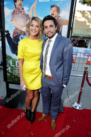 """Stock Picture of Grace Helbig and Chester See seen at the Los Angeles Premiere of AwesomenessTV and Defy Media's """"SMOSH: THE MOVIE"""" held at Westwood Village Theatre, in Los Angeles"""