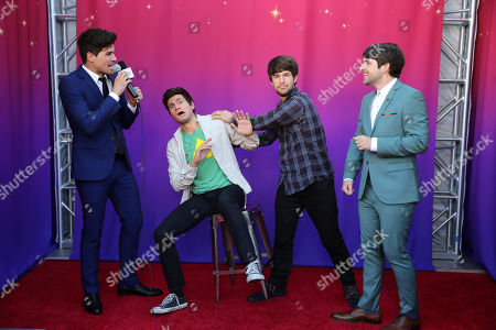 """Anthony Padilla and Ian Hecox seen at the Los Angeles Premiere of AwesomenessTV and Defy Media's """"SMOSH: THE MOVIE"""" held at Westwood Village Theatre, in Los Angeles"""