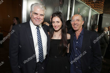 "Stock Image of Writer/Director/Producer Gary Ross, Associate Producer Diana Alvarez and Producer Jon Kilik seen at Los Angeles Premiere of STX Entertainment ""Free State of Jones"" at DGA Theater, in Los Angeles"