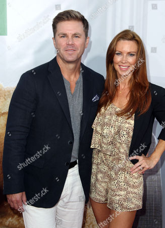 "Challen Cates, right, and Aaron McPherson arrive at the premiere for ""Ted"" on in Los Angeles"