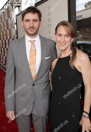 """Stock Image of Jared Moshe and Veronica Nickel attend the premiere of """"To Rome With Love"""" at Regal Cinemas L.A. LIVE on in Los Angeles"""
