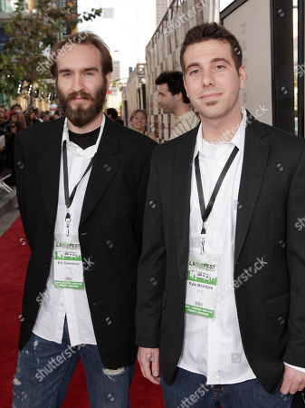 """Eric Demeusy and Kyle Mcintyre attend the premiere of """"To Rome With Love"""" at Regal Cinemas L.A. LIVE on in Los Angeles"""
