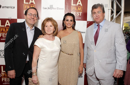 "Sony Pictures Classics co-president Michael Barker, producer Letty Aronson, actress Penelope Cruz and Sony Pictures Classics co-president Tom Bernard attend the premiere of ""To Rome With Love"" at Regal Cinemas L.A. LIVE on in Los Angeles"
