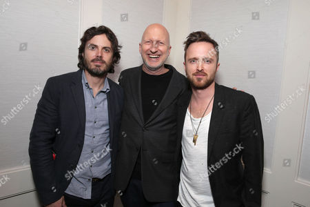 Exclusive - Casey Affleck, Director John Hillcoat and Aaron Paul seen at a Private Screening of Open Road's 'Triple 9' hosted by John Hellcoat, Casey Affleck, Aaron Paul and Atticus Ross at the London Hotel West Hollywood, in West Hollywood, CA