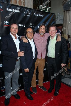 From left, Bobby Farrelly, Len Amato, Peter Farrelly and Perrin Chiles attend The Project Greenlight Season 4 premiere of 'The Leisure Class' at The Theatre At The Ace Hotel on in Los Angeles
