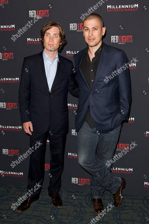 "Cillian Murphy and Rodrigo Cortes attend a special screening of ""Red Lights"" at Sunshine Landmark Cinema, in New York"