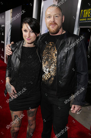 Katy Gilbert and Jason Ellis attend Relativity Media's Premiere of '3 Days to Kill' at the Arclight Theatre sponsored by Evian, on in Los Angeles