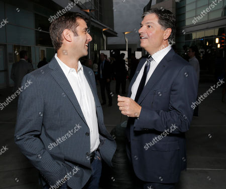 """Producer David Koplan and Producer Dean Vanech arrive on the red carpet at the Los Angeles Premiere of """"Thanks for Sharing"""" at the ArcLight Cinerama Dome on in Los Angeles"""
