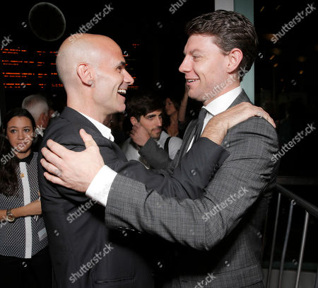 "Producer Bill Migliore and Patrick Fugit arrive on the red carpet at the Los Angeles Premiere of ""Thanks for Sharing"" at the ArcLight Cinerama Dome on in Los Angeles"