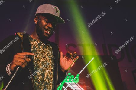 Casey Veggies performs at the Roc Nation concert at the Samsung LA Studio, in Los Angeles