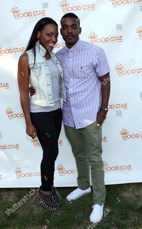 """Singers Dawn Richards and Luke James backstage at Shannon Brown's Wood-Star Music Festival """"Soul in the City"""" on Saturday August, 19, 2012, at Union Park in Chicago, Illinois"""