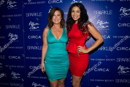 """Stock Photo of Jordin Sparks, right, and her mother Jodi Sparks attend a screening of """"Sparkle"""" hosted by The Cinema Society with Circa and Alice & Olivia on in New York"""